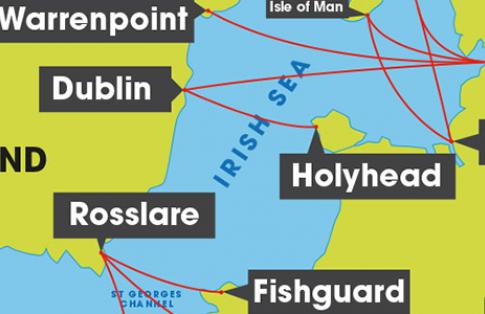 Irish Sea route map